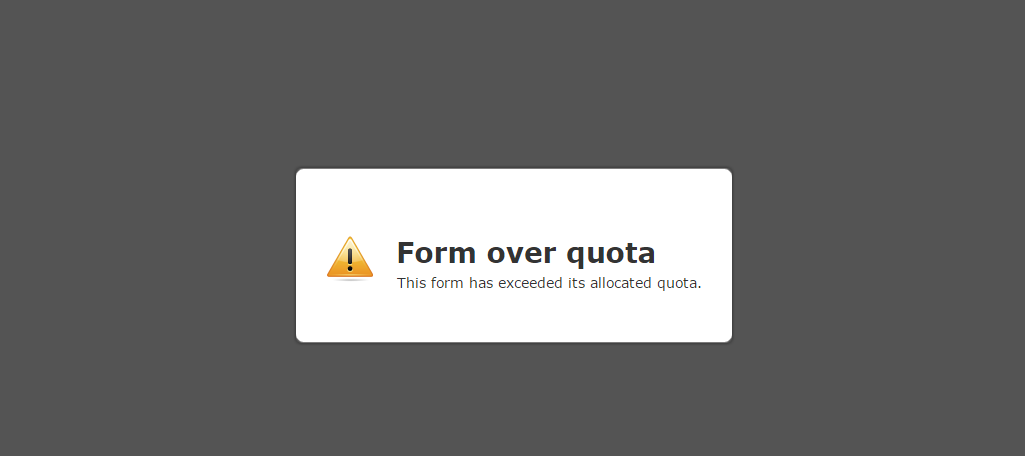 Form over quota issue