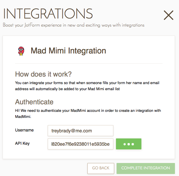 mad mimi templates - attempting to integrate form with mad mimi email svc but