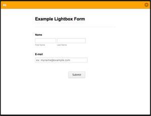 lightbox form