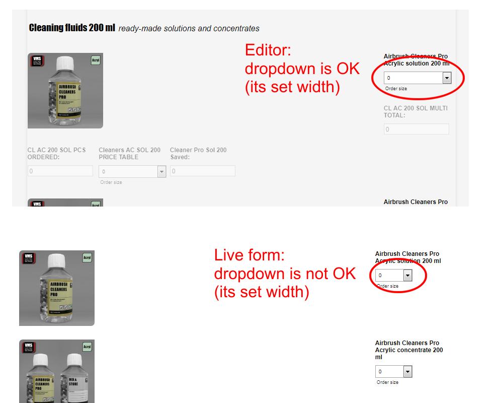 How to adjust the width of drop-down field? | JotForm