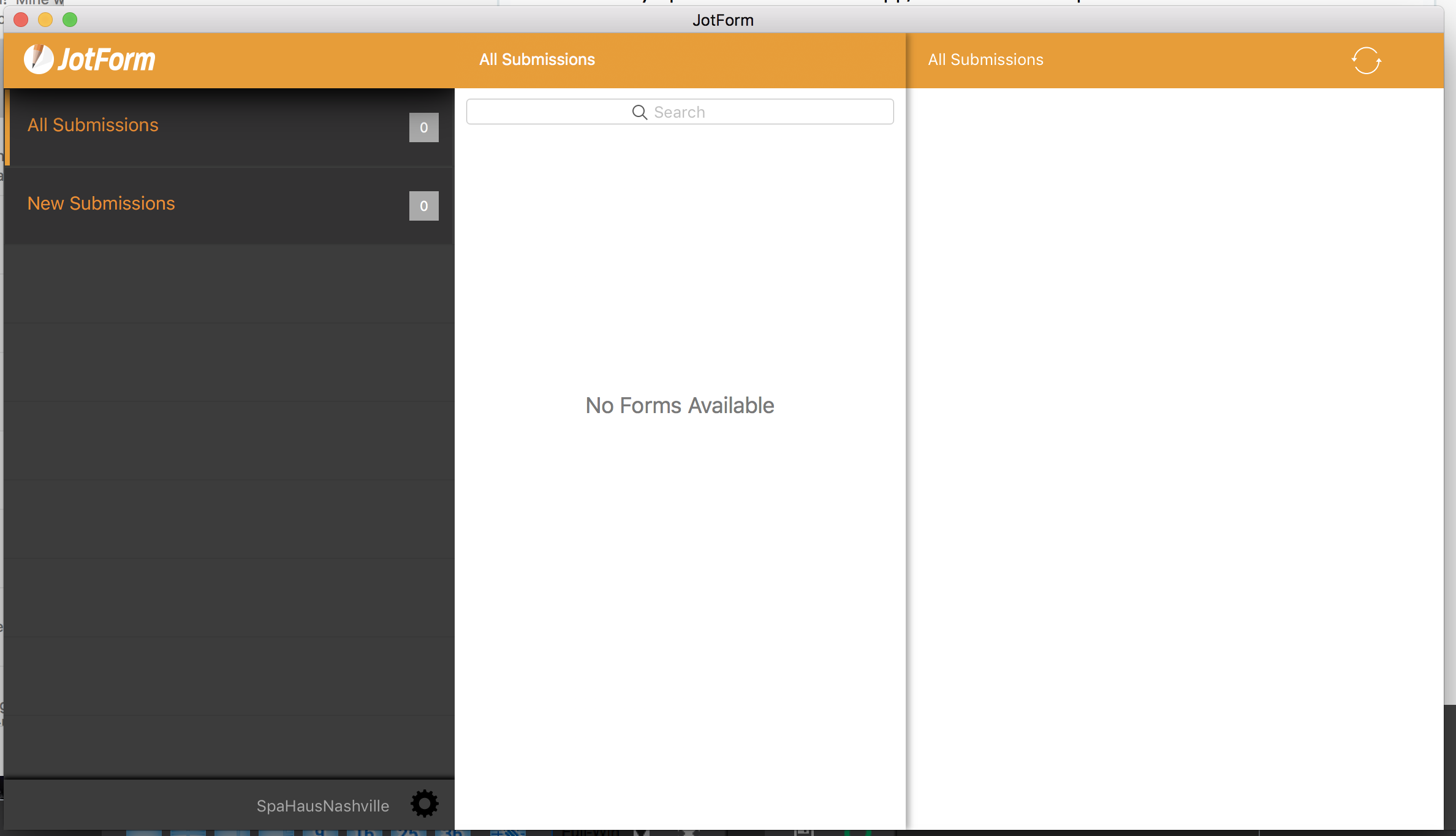 JotForm application at Mac App Store is not showing shared forms to
