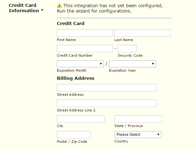 Submit credit card online