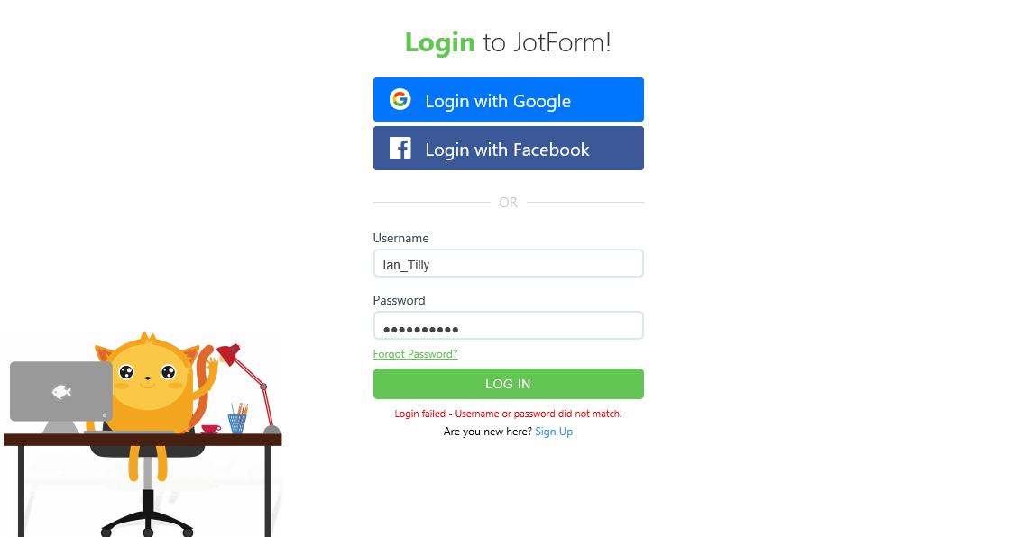Com login password match Forgot Password