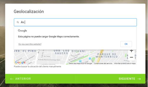 GPS Location widget with API key is not working