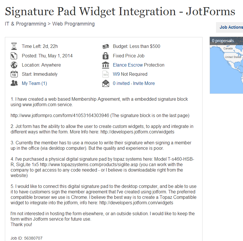 Custom Widget - Does external signature pad works with e-signature
