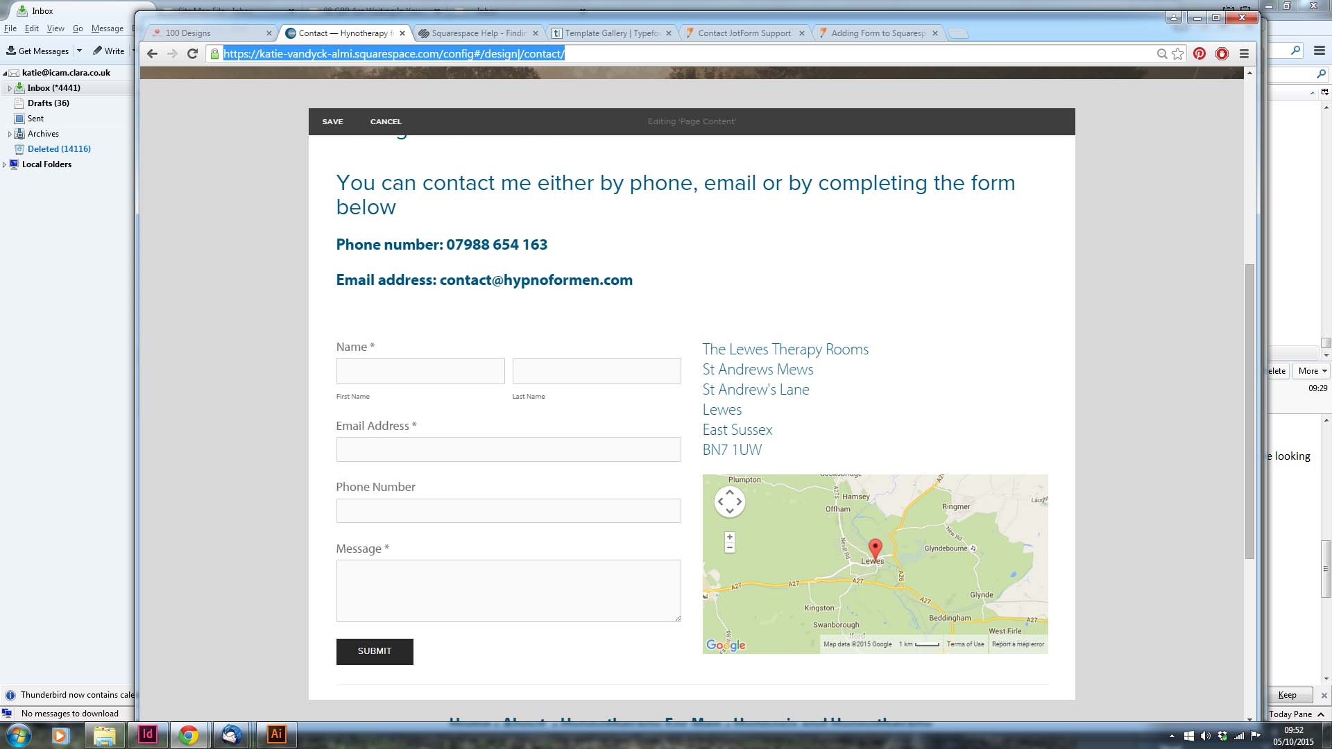 Where can we find the right code to embed my Contact form into a ...