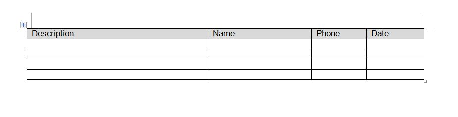 How do you create a table with rows and columns for for Table th font size