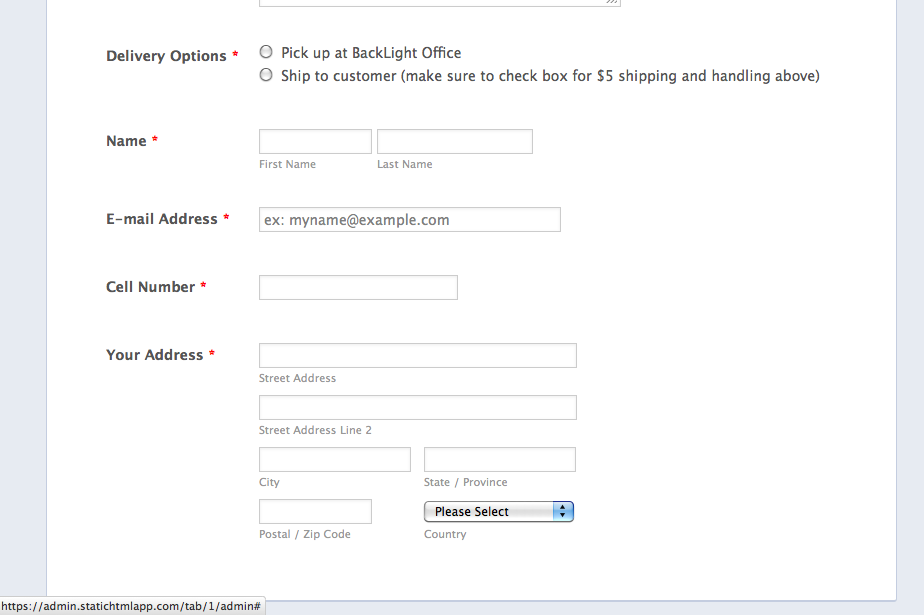 paypal order form not working on facebook   JotForm