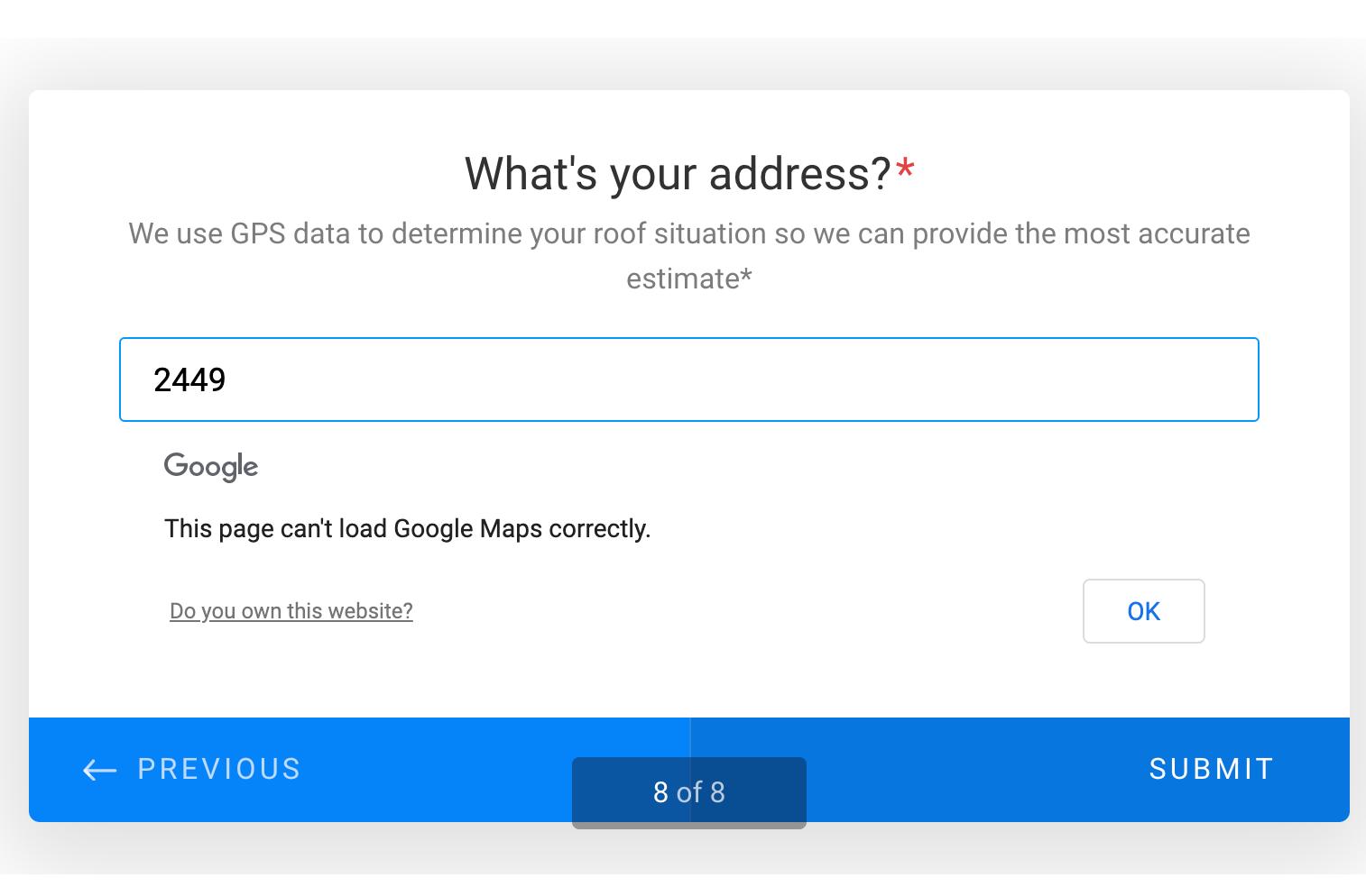 My Google Maps API Widget is not working correctly