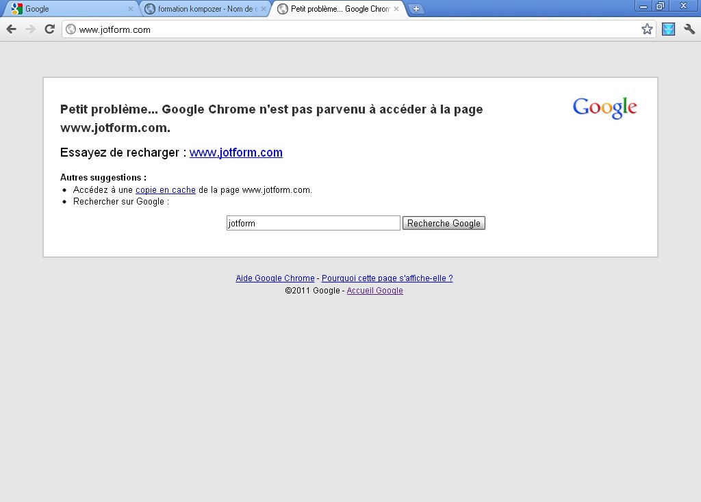 problem with form in google chrome