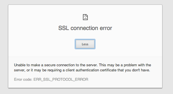 how to fix ssl connection error