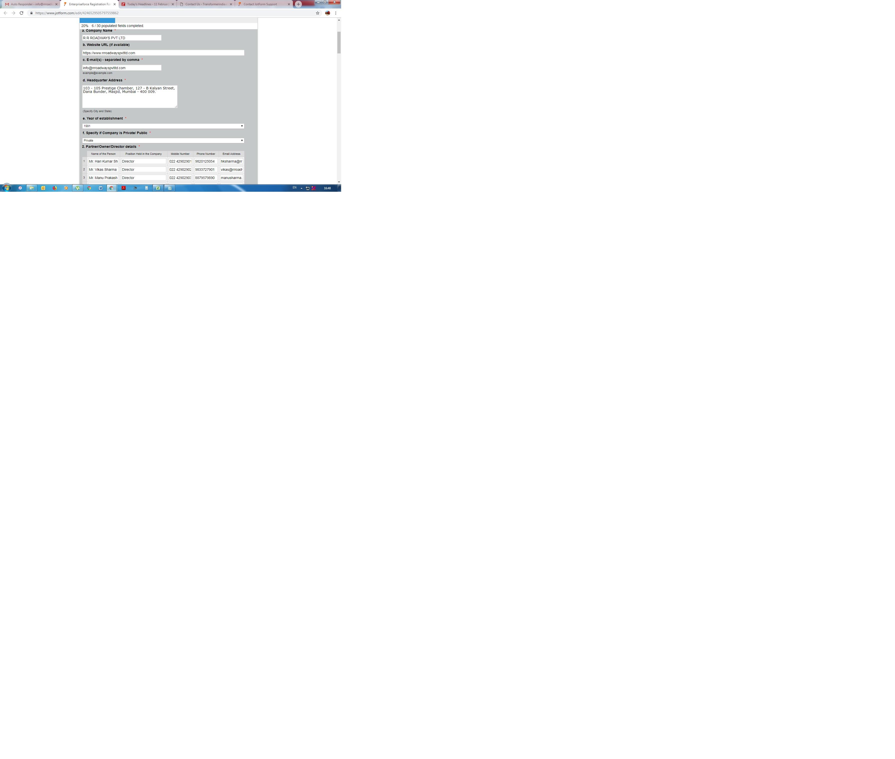 Please update us portal login , vendor registration and vendor number