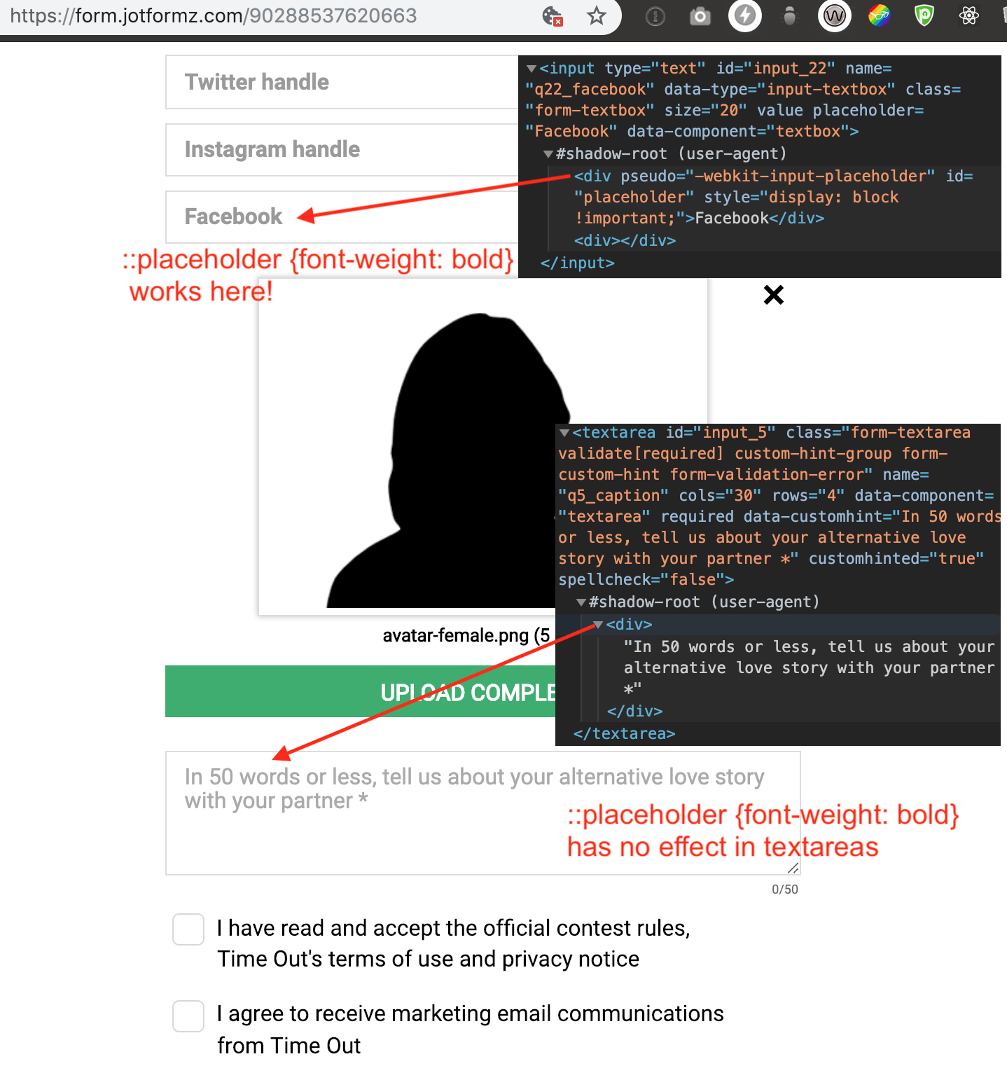 How to style textarea::placeholder?