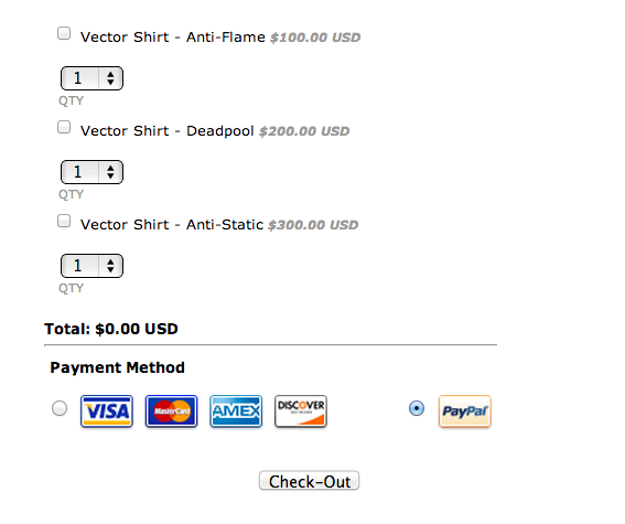 Payment Options · Multiple Payment · Items · JotForm · Uploads · Template  Payment Form Template