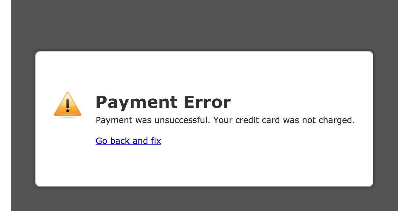 I'm getting a Payment Error in my Stripe form that is