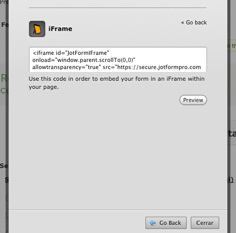 Customize option in iFrame Embed code not anymore visible/available