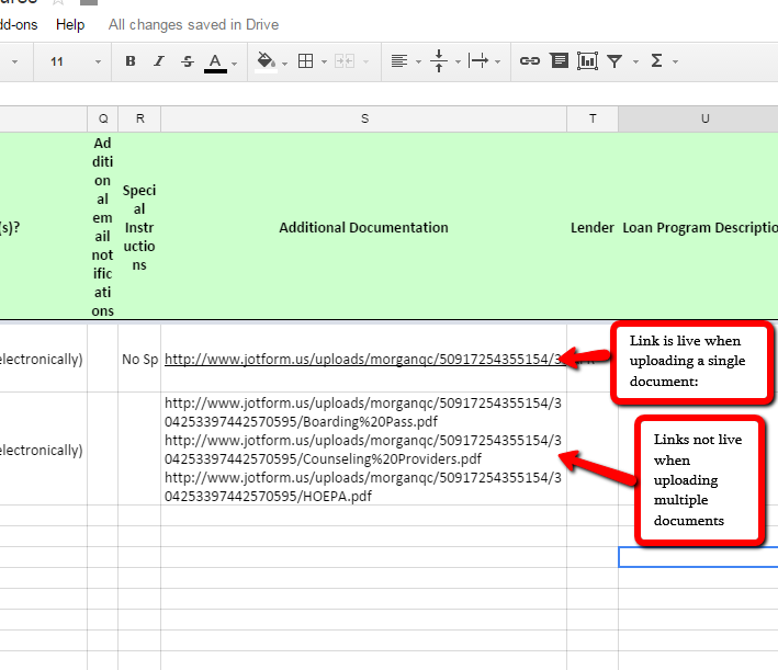 URL Links to File Uploaded to Google Sheets are disabled when ...