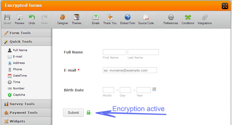 Using an Encrypted