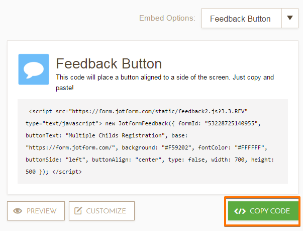 Adding a Feedback Button to Blogger | JotForm