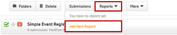 Click on the Reports