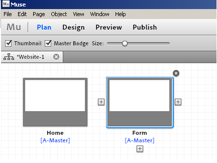Adding a Form to Adobe Muse