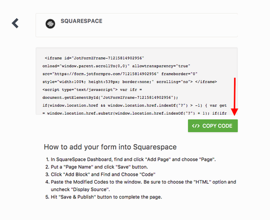 how to disable right click on squarespace