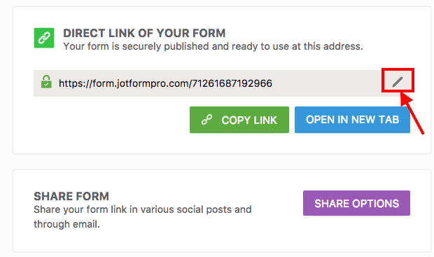 How to Create a Custom URL of a Form? | JotForm