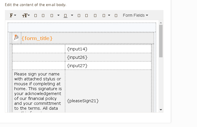 How to make texts and headers in the form included in the PDF copy ...