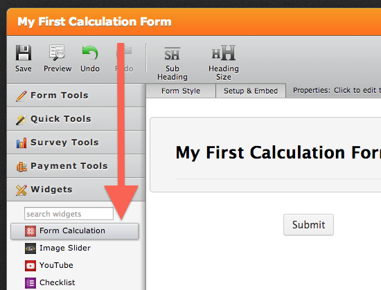 add calculation field