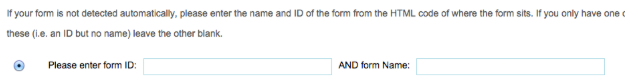 form id and name