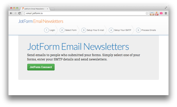 JotForm Email Newsletters