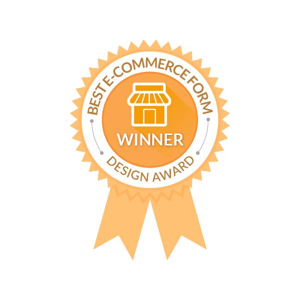 best ecommerce form design award