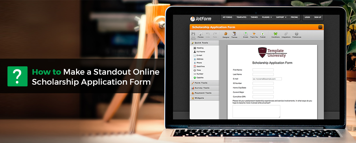 How to Make a Standout Online Scholarship Application Form | JotForm