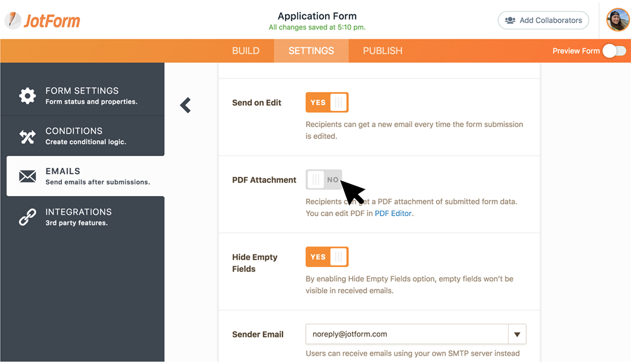New feature: Create password protected PDFs for submission emails