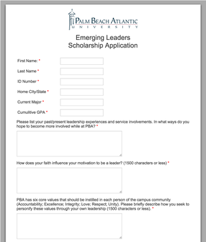 Application Admission Form  Format Of Admission Form