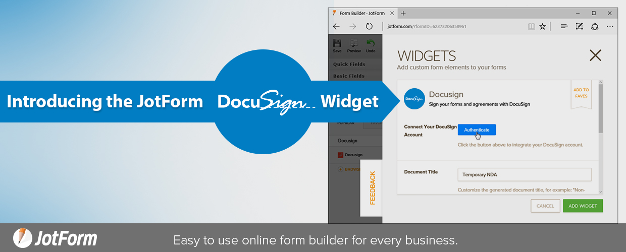 JotForm docusign