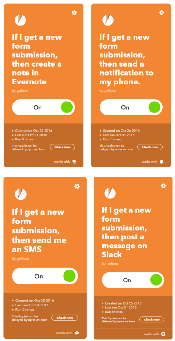 ifttt new applets