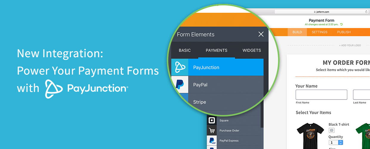 payjunction and jotform