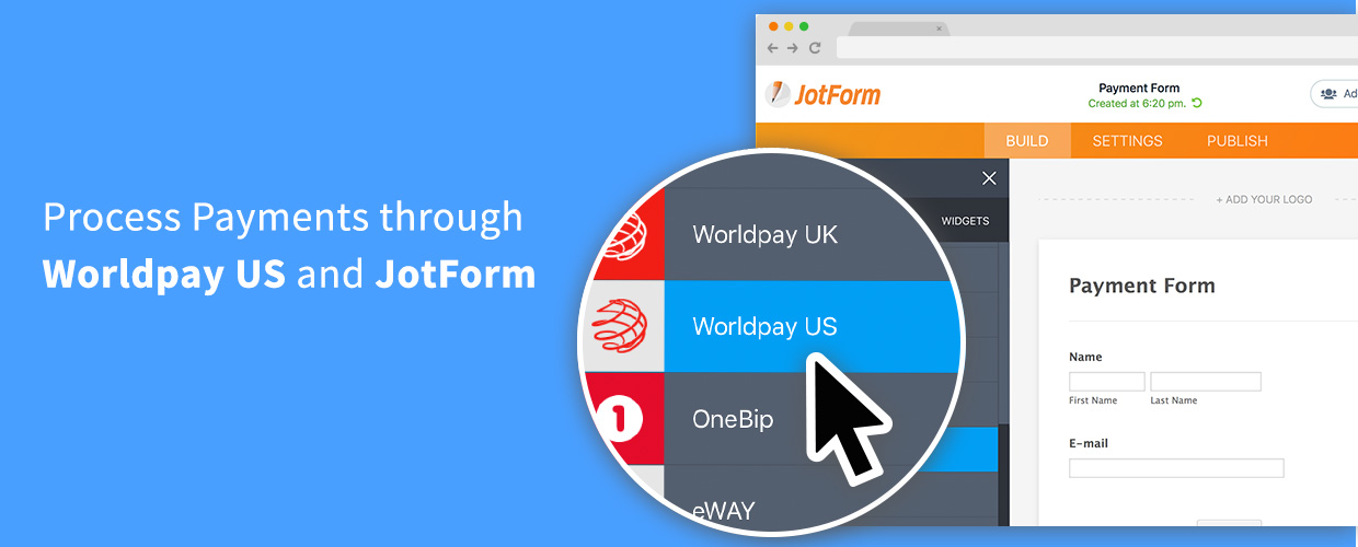 JotForm and Worldpay US