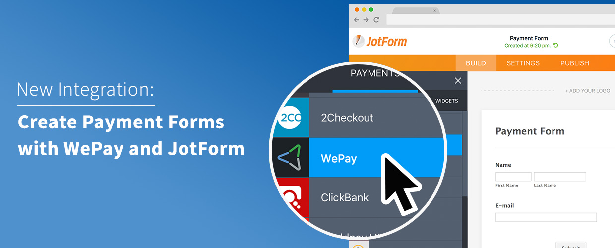 jotform and wepay