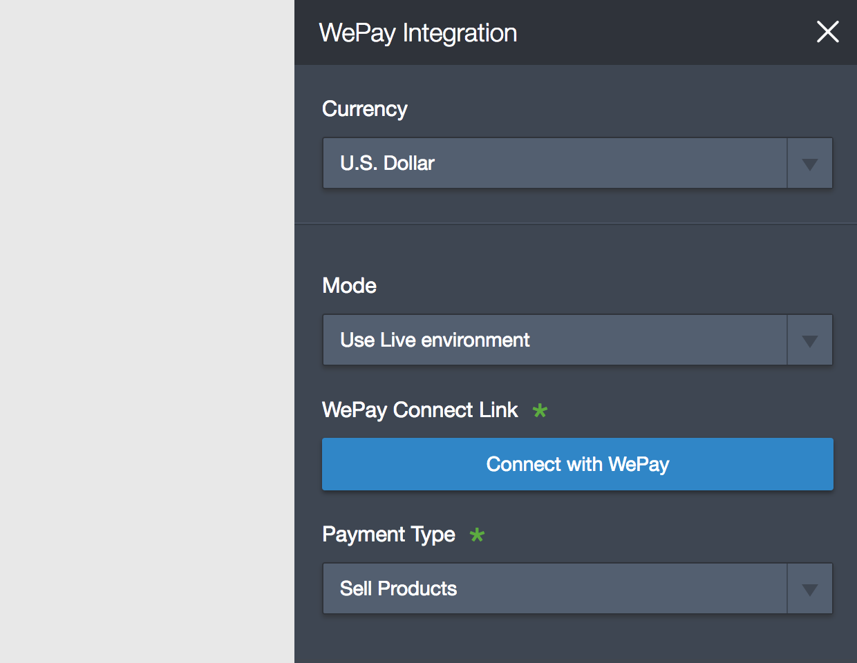 connect jotform wepay