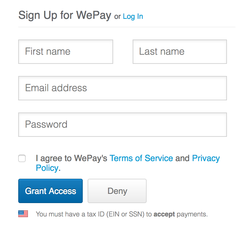 wepay signup