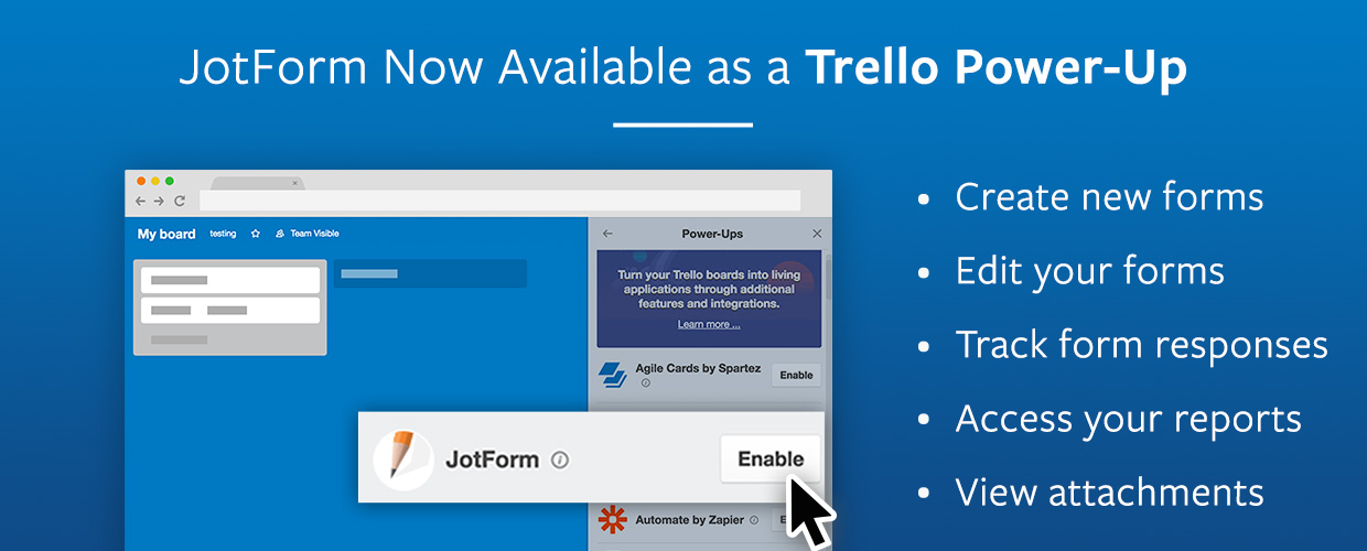 JotForm trello power up