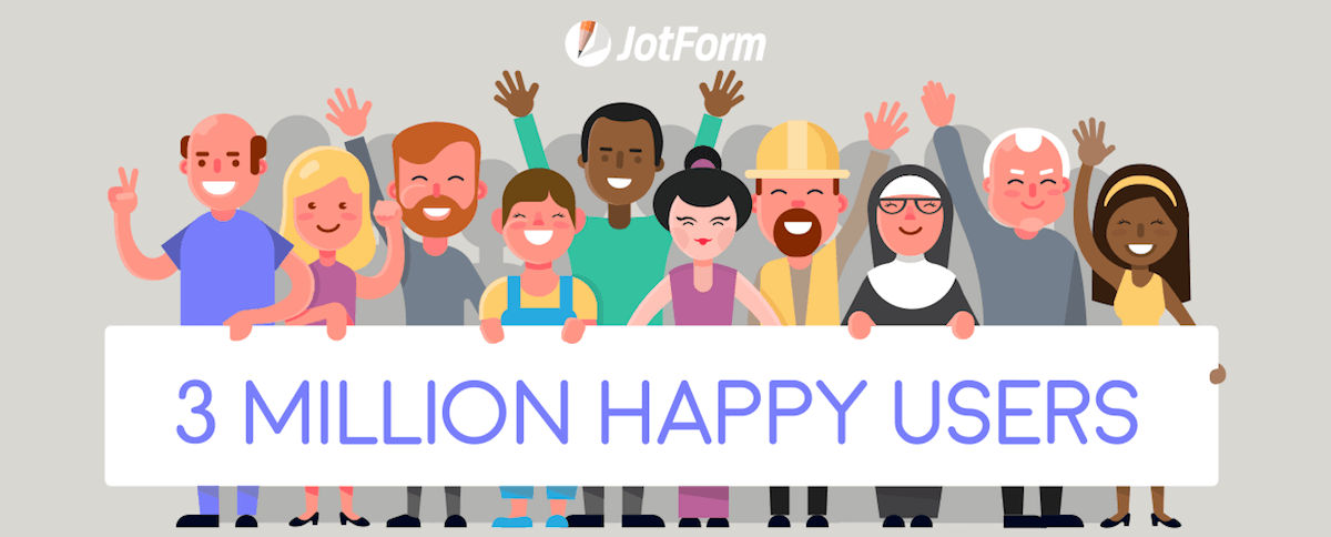 jotform 3 million users