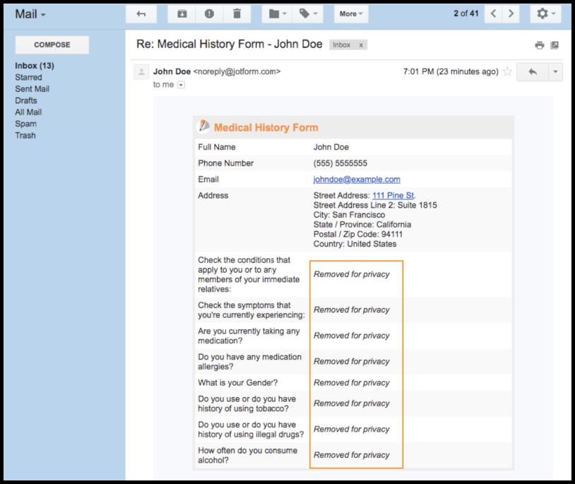 HIPAA emails