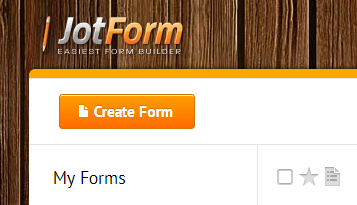Create Form button