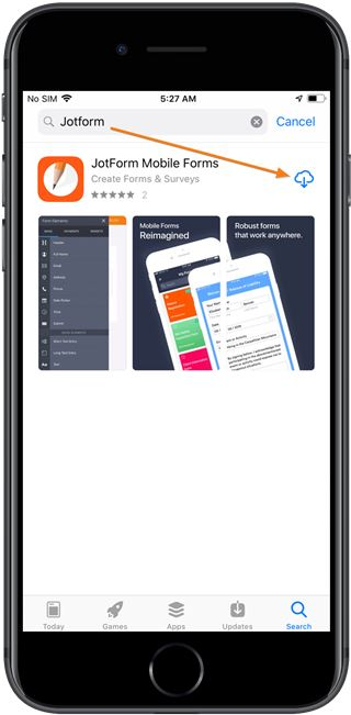 jotform-mobile-forms-app-store-search