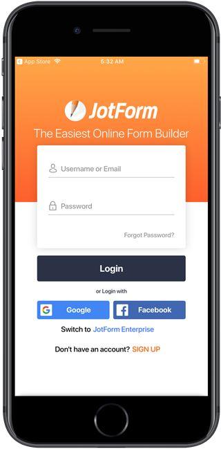 jotform-mobile-forms-login