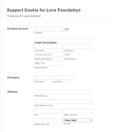 Support Cookie for Love Foundation
