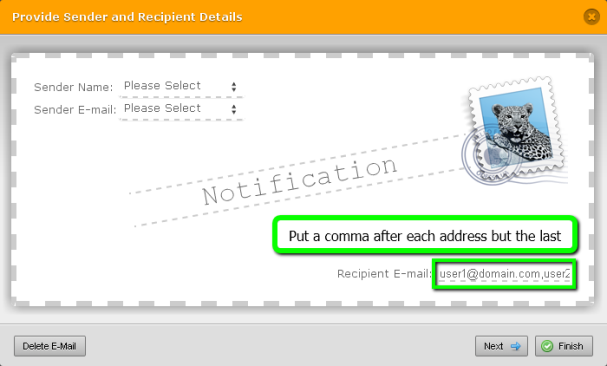 Comma Separated Email Addresses